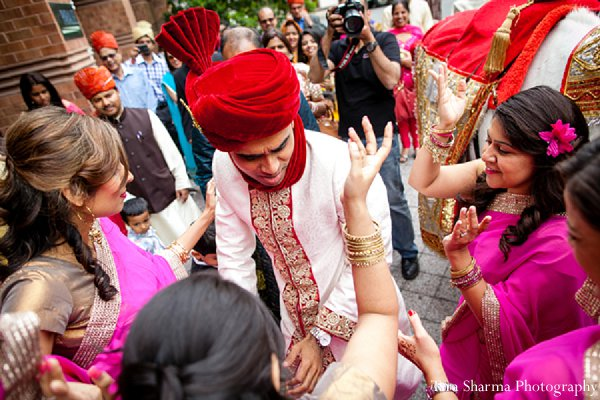 Indian-wedding-baraat-pre-wedding-groom in Princeton, NJ Indian Wedding by Tara Sharma Photography