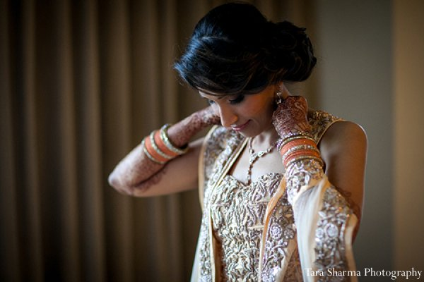 Indian wedding bride getting ready reception in Princeton, NJ Indian Wedding by Tara Sharma Photography