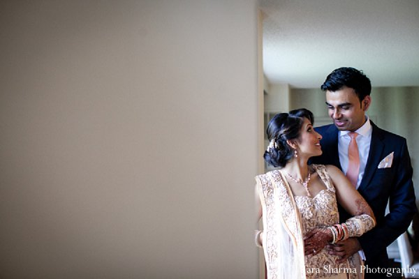 Indian wedding bride groom portrait reception in Princeton, NJ Indian Wedding by Tara Sharma Photography