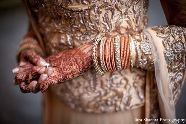 Indian wedding bride mehndi bridal jewelry in Princeton, NJ Indian Wedding by Tara Sharma Photography