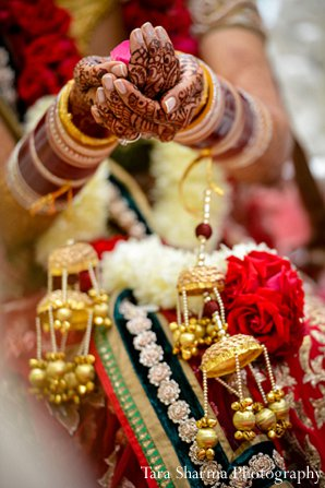 Indian wedding bride mehndi kalira in Princeton, NJ Indian Wedding by Tara Sharma Photography