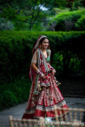 Indian wedding bride portrait lengha ruby in Princeton, NJ Indian Wedding by Tara Sharma Photography
