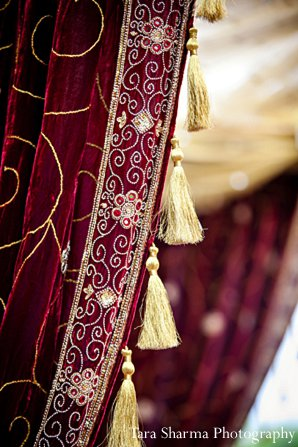 Indian wedding ceremony decor mandap in Princeton, NJ Indian Wedding by Tara Sharma Photography