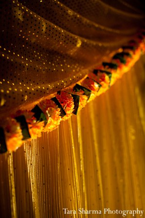 Indian wedding ceremony floral decor closeup in Princeton, NJ Indian Wedding by Tara Sharma Photography