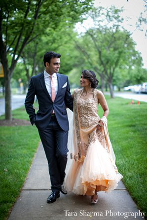 Indian wedding portrait bride groom in Princeton, NJ Indian Wedding by Tara Sharma Photography