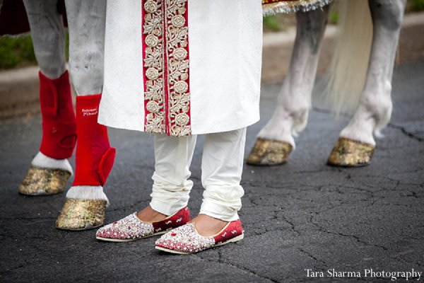 Indian wedding portrait shoes groom in Princeton, NJ Indian Wedding by Tara Sharma Photography