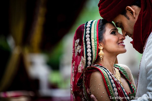 Indian wedding portraits bride groom in Princeton, NJ Indian Wedding by Tara Sharma Photography