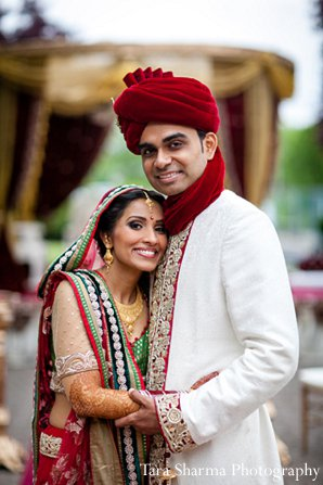 Indian wedding portraits groom bride ceremony in Princeton, NJ Indian Wedding by Tara Sharma Photography