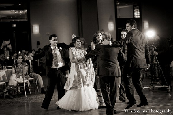 Indian wedding reception bride groom dance floor in Princeton, NJ Indian Wedding by Tara Sharma Photography