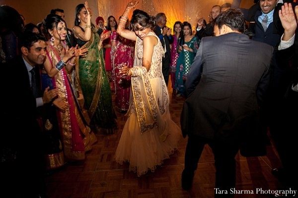 Indian wedding reception dancing bride in Princeton, NJ Indian Wedding by Tara Sharma Photography