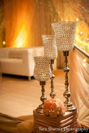 Indian-wedding-reception-floral-decor-lighting in Princeton, NJ Indian Wedding by Tara Sharma Photography