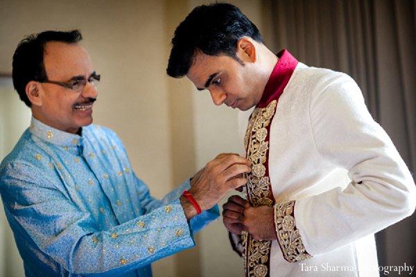 Indian-wedding-sherwani-groom-getting-ready in Princeton, NJ Indian Wedding by Tara Sharma Photography