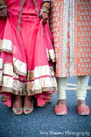 Indian-wedding-shoes-bride-groom in Princeton, NJ Indian Wedding by Tara Sharma Photography