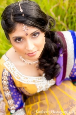 Indian-wedding-bride-engagement-shoot-portrait