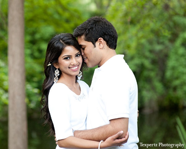 Indian engagement portraits bride groom outdoor in Sweetheart Sunday Winners ~ Tajkia & Nafees by Texpertz Photography