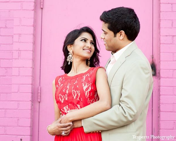 Indian engagement portraits formal red dress in Sweetheart Sunday Winners ~ Tajkia & Nafees by Texpertz Photography