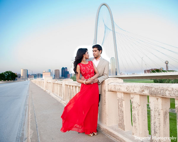 Indian engagement portraits venue red dress formal in Sweetheart Sunday Winners ~ Tajkia & Nafees by Texpertz Photography