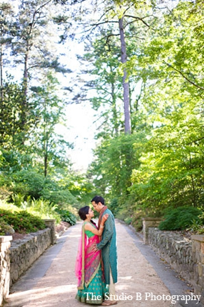 Indian bride groom sangeet wedding portraits in Durham, North Carolina Indian Wedding by The Studio B Photography