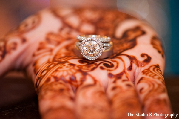 Indian wedding bridal mehndi jewelry in Durham, North Carolina Indian Wedding by The Studio B Photography