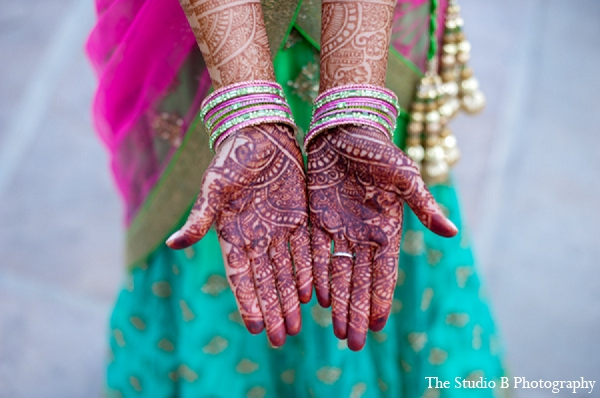 Indian wedding bridal mehndi photography in Durham, North Carolina Indian Wedding by The Studio B Photography