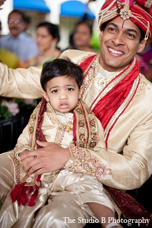Indian wedding child baraat groom in Durham, North Carolina Indian Wedding by The Studio B Photography