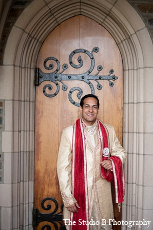 Indian wedding groom portraits venue in Durham, North Carolina Indian Wedding by The Studio B Photography