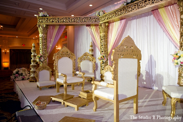 Indian wedding mandap decor ceremony in Durham, North Carolina Indian Wedding by The Studio B Photography