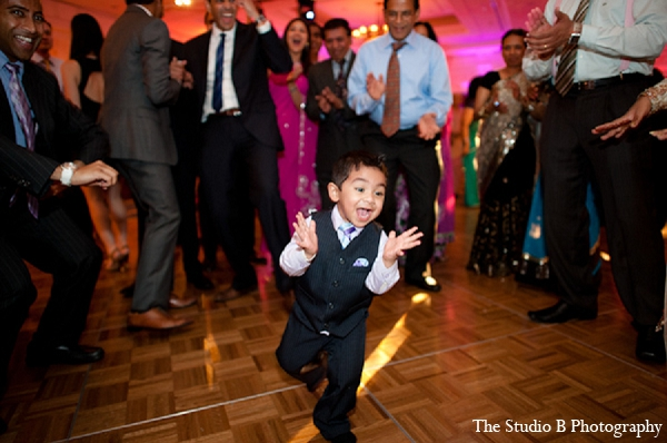 Indian wedding photography reception child in Durham, North Carolina Indian Wedding by The Studio B Photography