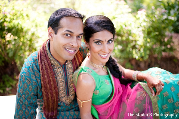 Indian wedding portrait sangeet bride groom in Durham, North Carolina Indian Wedding by The Studio B Photography