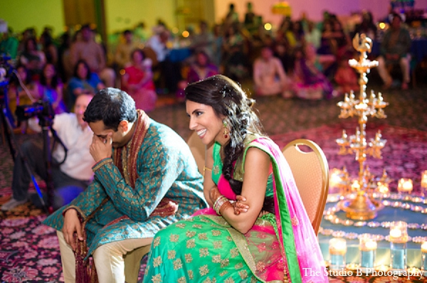 Indian wedding sangeet bride groom in Durham, North Carolina Indian Wedding by The Studio B Photography