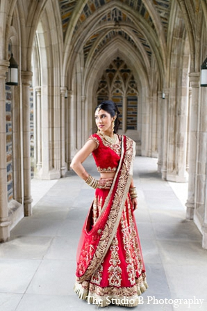 Indian wedding venue bride portrait in Durham, North Carolina Indian Wedding by The Studio B Photography