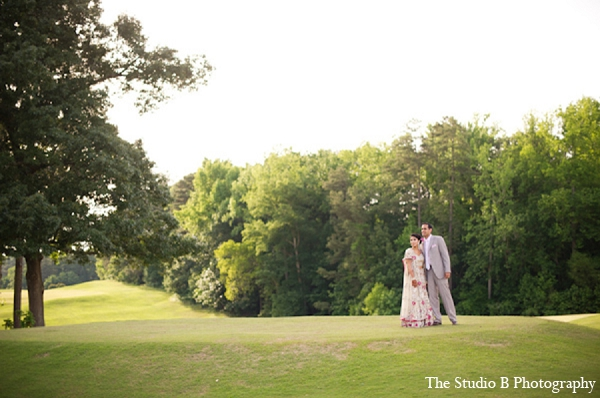Indian wedding venue portraits bride groom in Durham, North Carolina Indian Wedding by The Studio B Photography