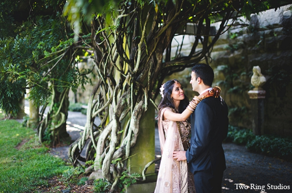 Indian bride wedding portraits groom in Asheville, North Carolina Indian Wedding by Two Ring Studios
