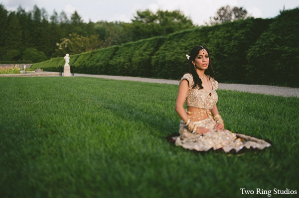 Indian bride wedding portraits landscape in Asheville, North Carolina Indian Wedding by Two Ring Studios