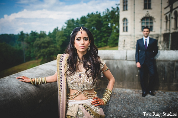 Indian groom bride wedding portraits in Asheville, North Carolina Indian Wedding by Two Ring Studios