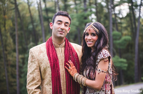 Indian groom portraits ceremony bride in Asheville, North Carolina Indian Wedding by Two Ring Studios