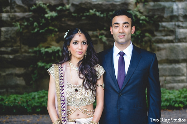 Indian groom wedding portraits bride in Asheville, North Carolina Indian Wedding by Two Ring Studios