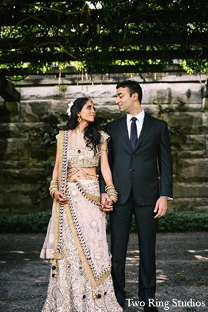 Indian photography groom wedding bride in Asheville, North Carolina Indian Wedding by Two Ring Studios