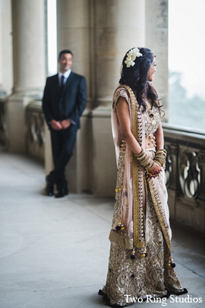 Indian photography wedding bride groom in Asheville, North Carolina Indian Wedding by Two Ring Studios