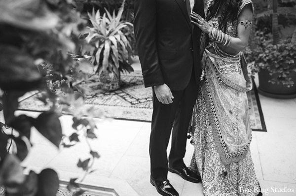 Indian portraits wedding bride groom in Asheville, North Carolina Indian Wedding by Two Ring Studios
