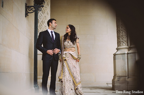 Indian portraits wedding groom bride in Asheville, North Carolina Indian Wedding by Two Ring Studios