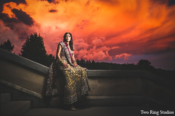Indian wedding bridal photography fashion in Asheville, North Carolina Indian Wedding by Two Ring Studios