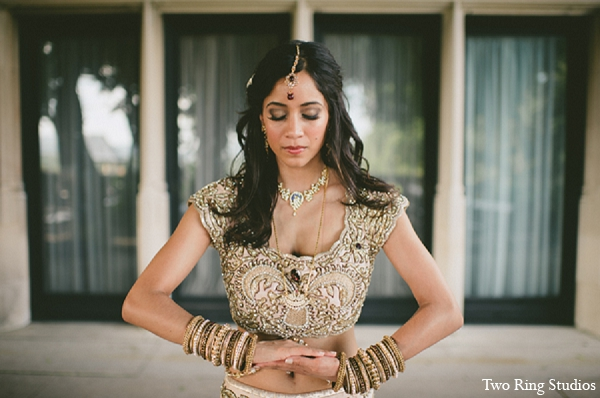 Indian wedding bride fashion portraits in Asheville, North Carolina Indian Wedding by Two Ring Studios