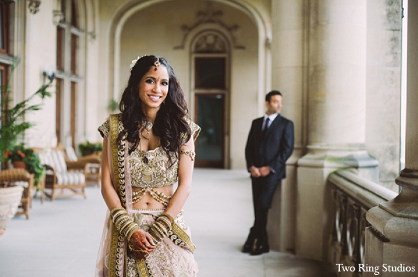 Indian wedding bride groom portraits in Asheville, North Carolina Indian Wedding by Two Ring Studios
