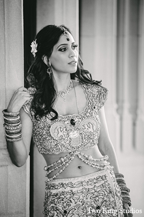 Indian wedding bride lengha fashion in Asheville, North Carolina Indian Wedding by Two Ring Studios