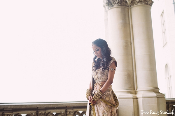 Indian wedding bride photography outfit in Asheville, North Carolina Indian Wedding by Two Ring Studios