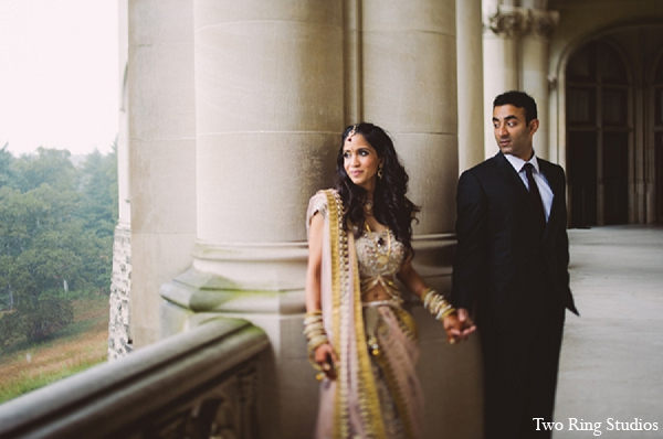 Indian wedding bride portraits groom in Asheville, North Carolina Indian Wedding by Two Ring Studios