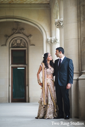 Indian wedding bride venue groom in Asheville, North Carolina Indian Wedding by Two Ring Studios