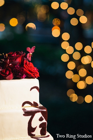 Indian wedding cake lighting photography in Asheville, North Carolina Indian Wedding by Two Ring Studios