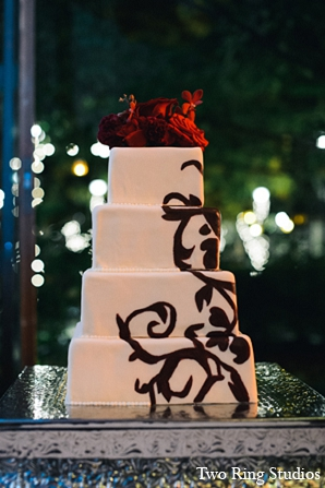 Indian wedding cake reception photography in Asheville, North Carolina Indian Wedding by Two Ring Studios